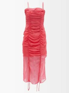 Prada - Whale-intarsia Wool And Cashmere-blend Sweater - Womens - Pink Multi