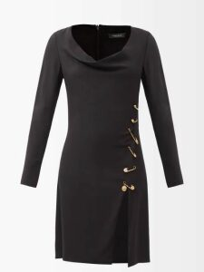 Aries - Logo Print Cotton Sweatshirt - Womens - Light Pink