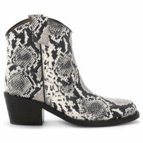 Via Roma 15  Texan python printed leather ankle boots  women's Smart / Formal Shoes in Other
