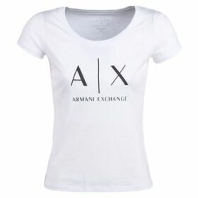 Armani Exchange  HELIAK  women's T shirt in White