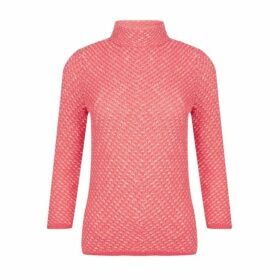 Coral Bardot Neck Twist Yarn Jumper