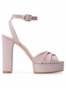 Casadei Glitter platform sandals - Neutrals