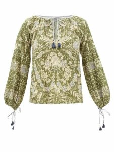 On The Island By Marios Schwab - Sennen Striped Shorts - Womens - Green Stripe