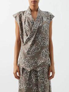 Mara Hoffman - Savannah Puff-sleeve Hemp Midi Dress - Womens - Black