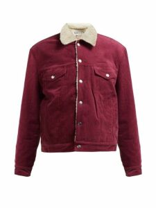 Re/done Originals - Oversized Corduroy Trucker Jacket - Womens - Burgundy