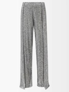 Balenciaga - Logo-jacquard Wool-blend Cardigan - Womens - Navy Multi