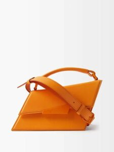 Miu Miu - Intarsia Stripe And Cable Knit Wool Cardigan - Womens - Orange Multi
