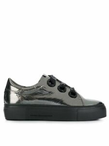 Kennel & Schmenger metallic platform sneakers - SILVER