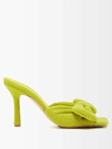 Miu Miu - Logo-embroidered Wool Sweater - Womens - Navy