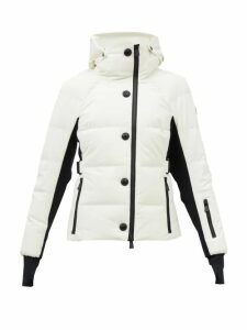 Miu Miu - Striped Ribbed Jersey Dress - Womens - Green Stripe