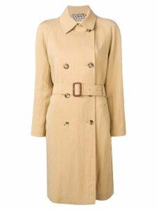 Etro double-breasted midi coat - Neutrals