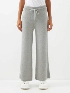 Aries - Logo Print Cotton Sweatshirt - Womens - Light Blue