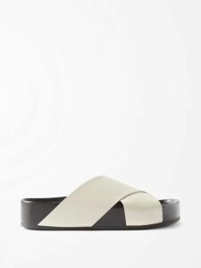 See By Chloé - Nicole Leather And Mesh High Top Trainers - Womens - Pink Multi