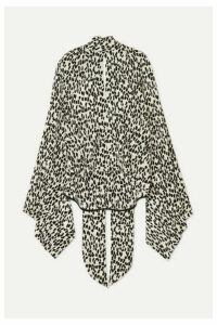 Petar Petrov - Leopard-print Silk Crepe De Chine Blouse - Black