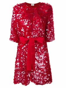 P.A.R.O.S.H. belted sequin coat - Red