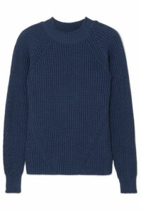 A.P.C. Atelier de Production et de Création - Miyuki Ribbed Cotton Sweater - Navy