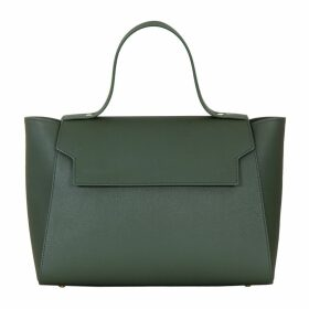 Aurora London - The Cara Top Handle Tote Leather Bag Green