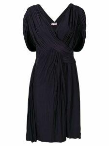 Lanvin draped cocktail dress - Blue