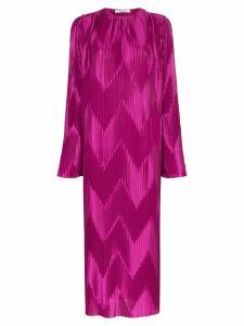 Givenchy Chevron pleat loose-fit dress - Purple