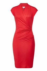 Velvet Omega Draped Cotton Dress