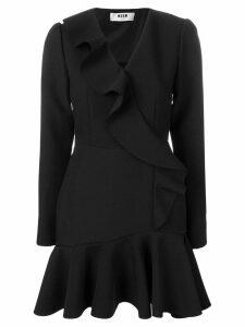 MSGM ruffled mini dress - Black
