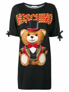 Moschino Circus Teddy Bear T-shirt dress - Black