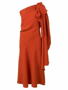 Esteban Cortazar one shoulder dress - Orange