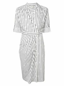 Pinko striped shirt dress - White