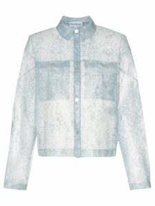 Paskal Reflective translucent printed jacket - Blue