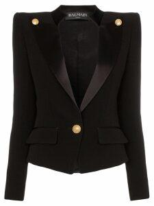 Balmain Buttoned Smoking Jacket - Black