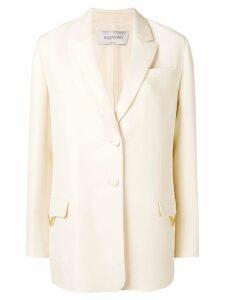 Valentino V hardware blazer - White