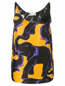 LANVIN elephant print blouse - Yellow
