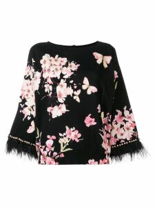 Twin-Set blossom print blouse - Black