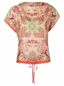 Etro shortsleeved printed blouse - PINK