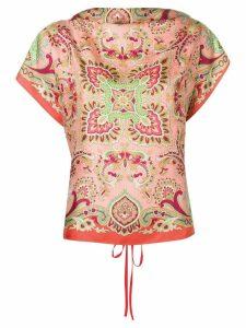 Etro shortsleeved printed blouse - Pink