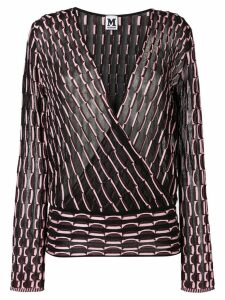 M Missoni patterned blouse - Black