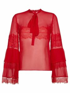 Giambattista Valli silk lace blouse - Red