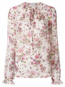 Giambattista Valli tie neck floral blouse - Neutrals