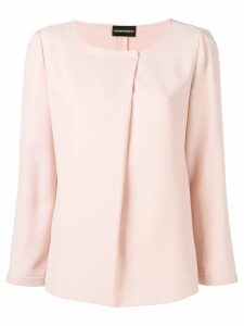 Emporio Armani long sleeved blouse - Pink
