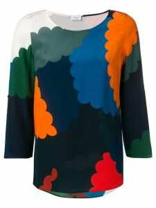 Akris Punto colour-block fitted blouse - Blue