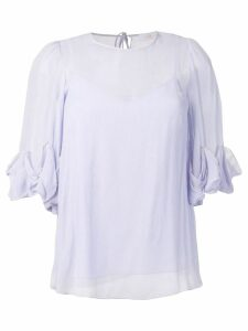 See By Chloé ruffle sleeve blouse - PURPLE