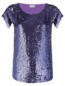 P.A.R.O.S.H. sequin embroidered blouse - PURPLE