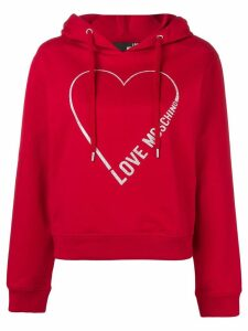 Love Moschino heart logo hoodie - Red
