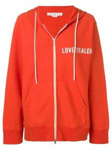 Golden Goose Janet zipped hoodie - ORANGE