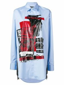 Dsquared2 patch print oversized shirt - Blue