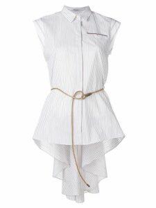 Brunello Cucinelli asymmetric striped shirt - NEUTRALS