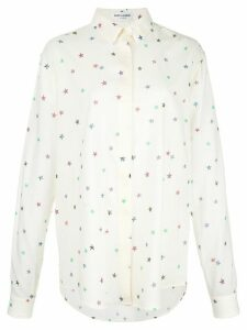 Saint Laurent printed button down shirt - White