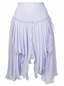 See By Chloé asymmetric ruffle skirt - Purple