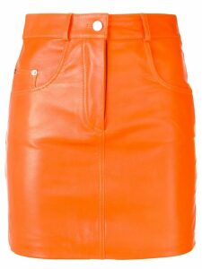 Manokhi fitted mini skirt - Orange