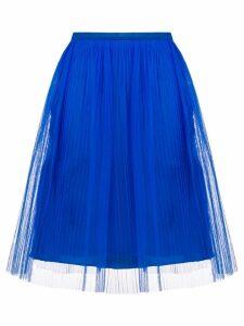 Maison Margiela pleated tule skirt - Blue